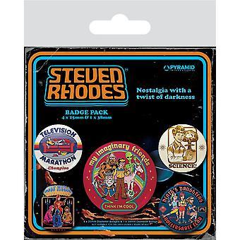 Steven Rhodes Collection Badge Set (5 kpl pakkaus)