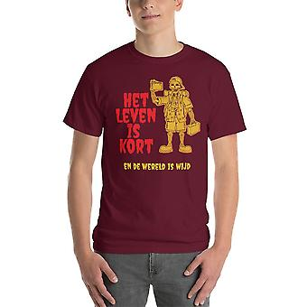 Life is short and the world is wide - Short-sleeved T-shirt, gentlemen