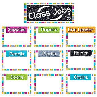 Color Harmony Wipeoff Class Jobs Mini Bulletin Board Set
