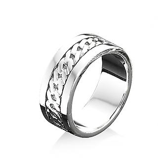 Fred Bennett Ribbed Detail Band Ring