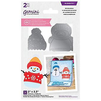 Gemini Mr Snowman Double-Sided Die