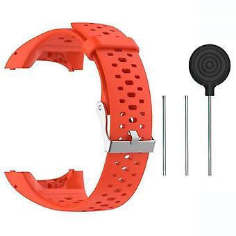 Siliconen vervangende horlogeband voor Polar M400 M430-Orange