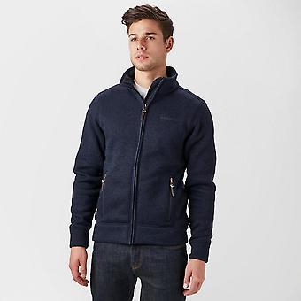 Brasher Men's Rydal II Walking Hiking Casual Full Zip Fleece Jacket Blue