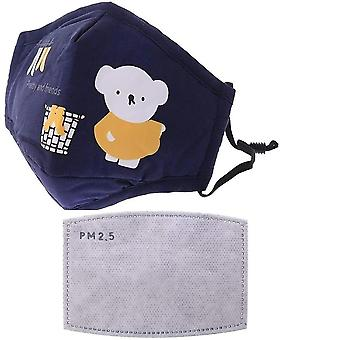 Filter Activated Carbon Cycling Dust Cotton Kid Mask