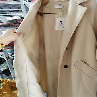 Wool Blend Womens Long Coats, Overcoat Outwear