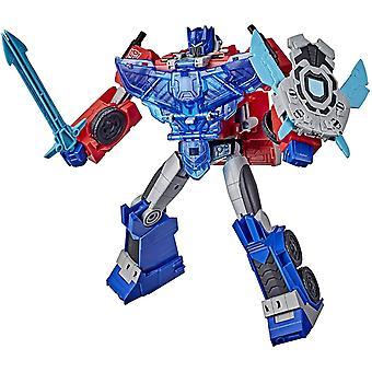 Transformers Cyberverse Battle Call Officer Class Optimus Prime Figure