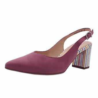 Peter Kaiser Nexy Sling Back Shoes In Cassis Suede