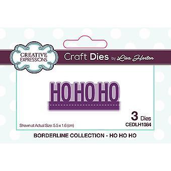 Expressões Criativas Natal - Borderline Collection Cutting Dies - Ho Ho Ho