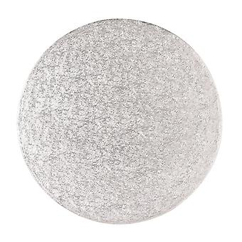 "7"" (177mm) Cake Board Round Silver Fern - singolo"