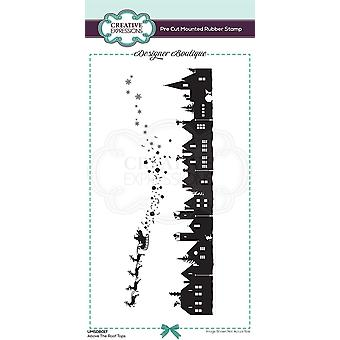 Creative Expressions Designer Boutique Collection Above The Roof Tops DL Pre Cut Rubber Stamp