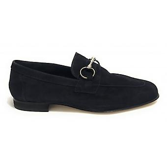 Moccassus Man Ancient Leather Shop Mod. Amalfi Blue Suede Us19ac02