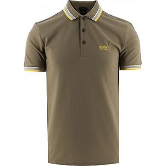 BOSS Khaki Paddy Polo Shirt