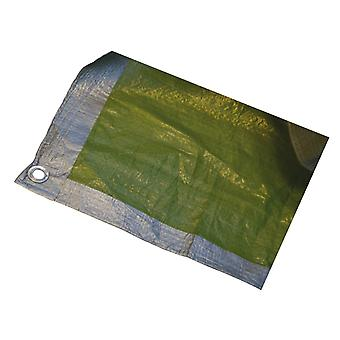 Home DIY (Paint Brushes) Tarpaulin Green/Silver 18ft x 12ft HH1929