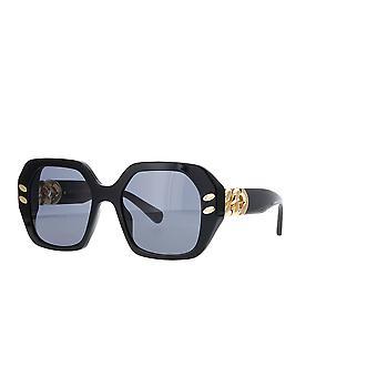 Stella McCartney SC40008I 01A glänsande solglasögon för svart/rök