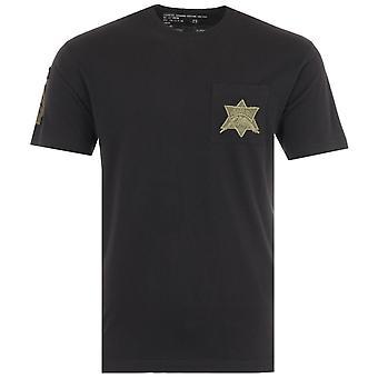 Maharishi Star Patch Organic Cotton T-Shirt - Black