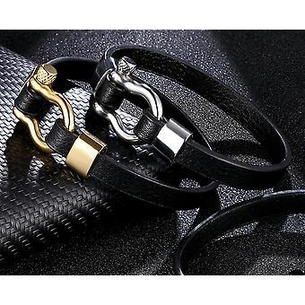 Einfache Anker Leder Armbänder