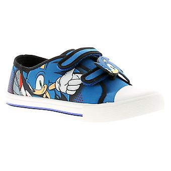 Sonic sweden Yonger Boys Canvas Shoes blue UK 10-2 UK Size