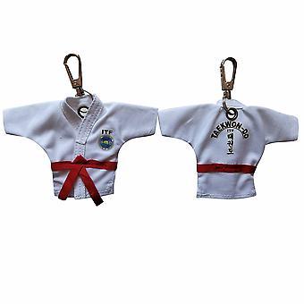 Keychain Taekwondo Uniforme, Pendentif cartoon, Sport, Souvenir, Porte-clés