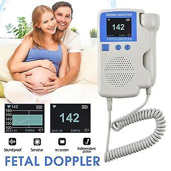 Handheld fetal doppler prenatal baby heart rate detector sonar doppler heartbeat monitor for pregnant women homeuse us stock
