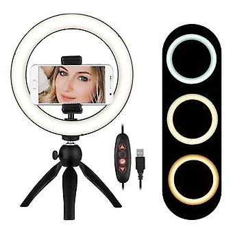Lampe lumineuse portative d'anneau de LED de 8,6 pouces