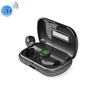 X10 TWS Digital Display Bluetooth 5.0 Casque sans fil avec boîte de charge (noir)
