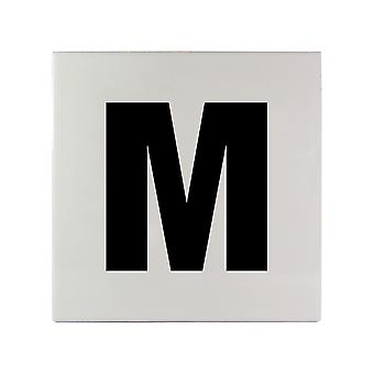 "Inlays C613510 6"" x 6"" M Message Smooth Ceramic Tile"