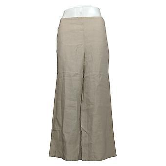 J. Jill Women's Pants Line Wide Leg w/ Pockets Beige