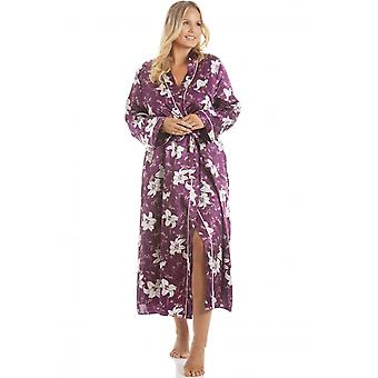 Camille kvinners Lilly Floral plomme print lang lengde wrap
