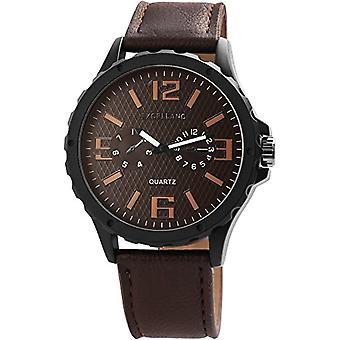 Excellanc Reloj analógico cuarzo para hombre con correa de cuero 2900041-001