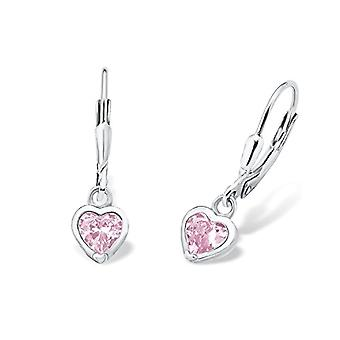 Prinzessin Lillifee 397278 - Pendant earrings for children with cubic zirconia, sterling silver 925, 19 mm