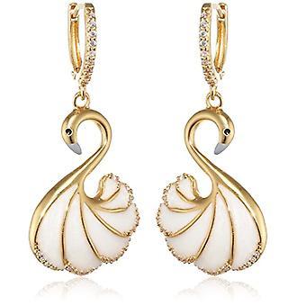 Misis Women-EarringsMirabilia Silver 925 Enamel White Zircons 4.5 cm - OR09085
