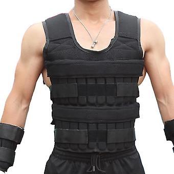 30kg laden gewicht vest voor boksen training gym apparatuur vest jas zand
