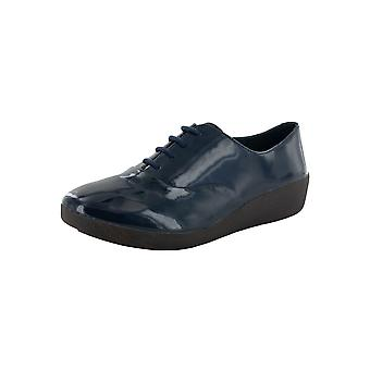Fitflop Donna F-Pop Vernice Pelle Oxford Shoes