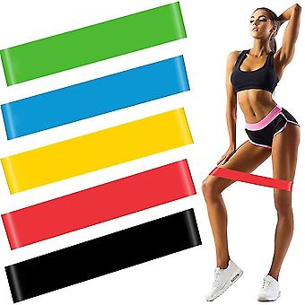 600X50mm 5 pcs resistance rubber latex yoga loop exercise bands for fitness training cai428