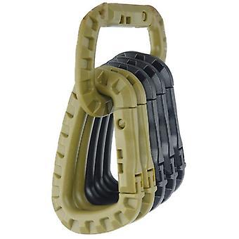 Gewicht plastic staal link knop tactische outdoor sluiting, knop buitenste sleutel