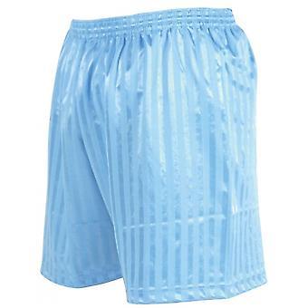 Tarkkuus raidallinen mannermainen jalkapallo shortsit 30-32 tuuman Sky Blue