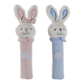 Fluffy toy DKD Home Decor Cotton (8 x 7 x 25 cm) (2 pcs)