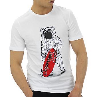 Supreme Grip Hommes T-Shirt Scorpion Blanc