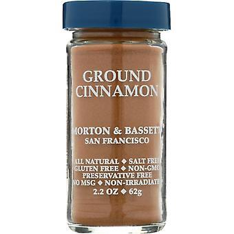 Morton & Bassett Cinnamon Ground, Case of 3 X 2.7 Oz