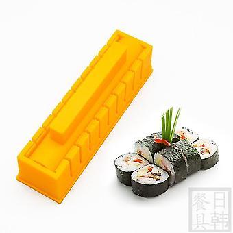 2pcs Sushi Making Kit Thickened Round Sushi Mold Rice Spreader Golden