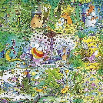 Heye Wildlife Cartoon Classics, Mordillo Quadrat Jigsaw Puzzle (1000 pezzi)