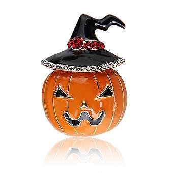 Corsage Halloween Pumpkin Ladies Brooch Painted Enamel Electroplated Brooch Pin