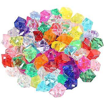 Künstliche Acryl Eiswürfel Plastikeiswürfel Dekosteine Diamanten Tischdeko Deko Glassteine Deko