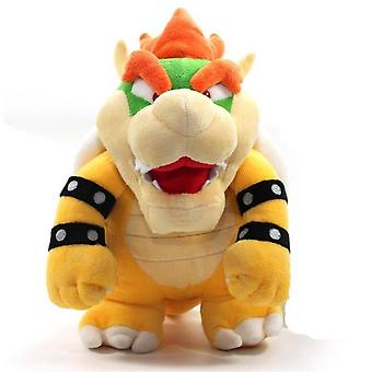 """[ Funny] Catoon Film Anime 10"""" 26cm Bowser Dragon Soft Stuffed Plush Toy Doll Model Baby Kids Best Gift"""