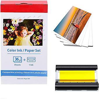 Fotopapper och bläckpatron för Canon fotoskrivare 36 ark (100x148 mm) KP-36IN