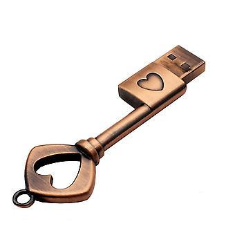 Pen Drive Metall Kupfer Liebe Herz Key USB Flash Drive Speicher Stick Key Original Pendrive 32gb Thumb