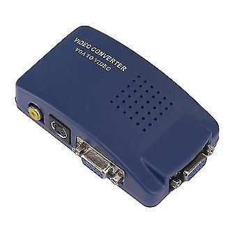 VGA la RCA Video sau S-Video Video Converter (Albastru)