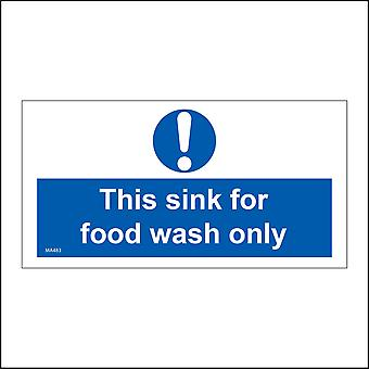 MA483 This Sink For Food Wash Only Sign with Circle Exclamation Mark