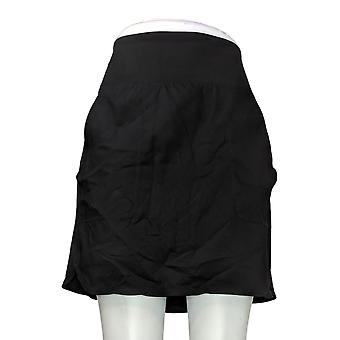 zuda Skirt Regular Cityscape Skort w/ Pockets Black A381040