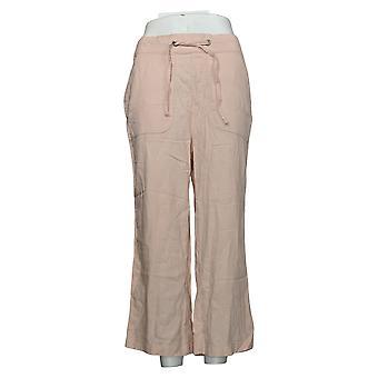 denim &co. kvinners bukser (XXS) naturals lin blanding avling rosa a377306